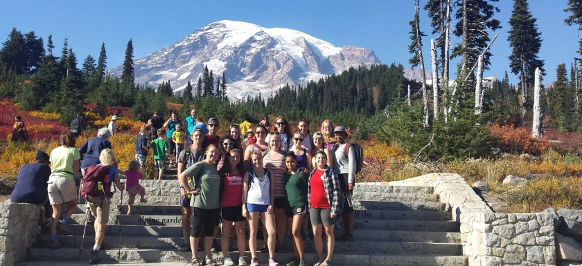 2015-16 Volunteers enjoying time at Mount Rainier!